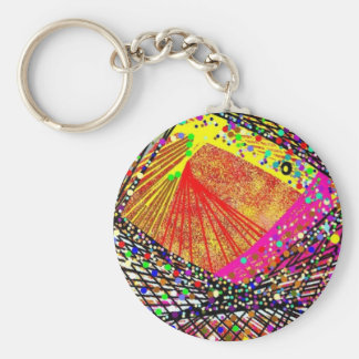 Abstract Fish Basic Round Button Keychain