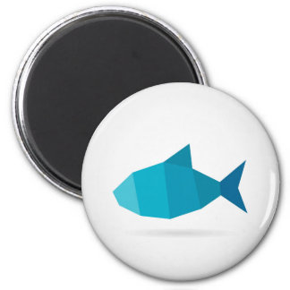 Abstract fish magnet