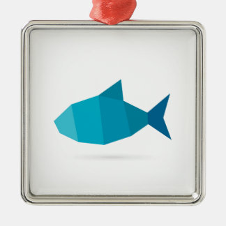 Abstract fish metal ornament