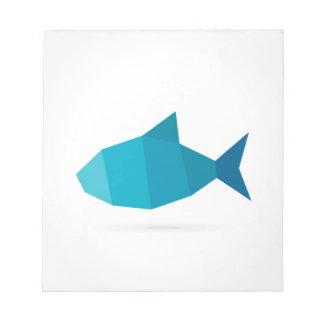 Abstract fish notepad