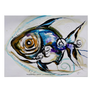 Abstract Fish Poster / Design by VinnyFish