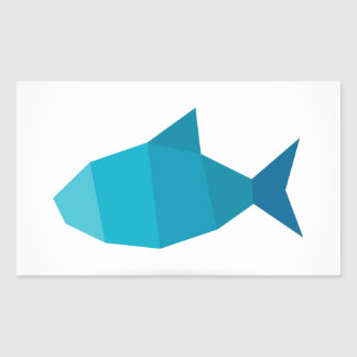Abstract fish sticker