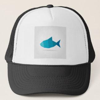 Abstract fish trucker hat