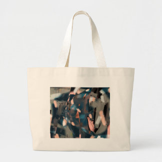 Abstract Fish with Overbite Large Tote Bag
