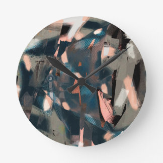 Abstract Fish with Overbite Wall Clocks