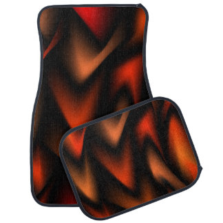 Abstract Flames Car and Truck Mats
