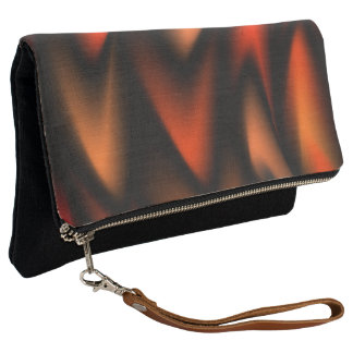 Abstract Flames Clutch