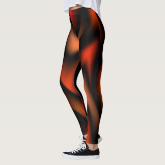 Abstract Flames Leggings