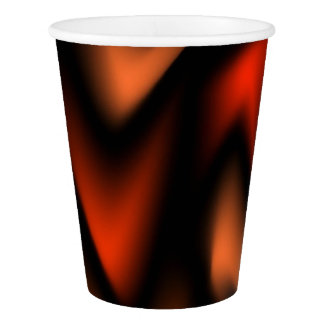 Abstract Flames Paper Cup