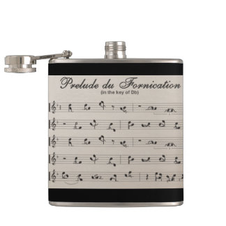 Abstract Flask wrapped in Vinyl