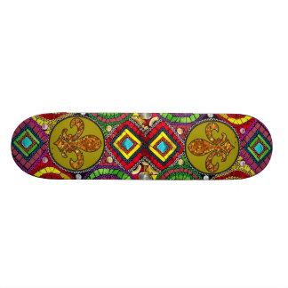 Abstract Fleur De Lis Skateboard New Orleans
