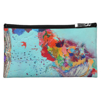 Abstract Flight by Letter Bagette Cosmetic Bag
