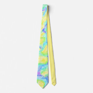 Abstract Floating Lights Tie
