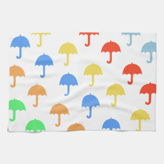 Abstract Floating Umbrellas Kitchen Towel