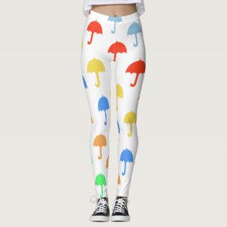 Abstract Floating Umbrellas Leggings