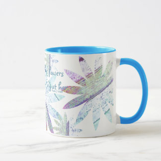 Abstract Floral -  11 oz Combo Mug
