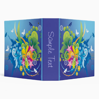 Abstract Floral and Butterfly Binder