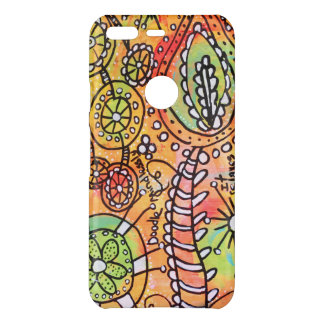 Abstract Floral and Doodle Art Phone Case