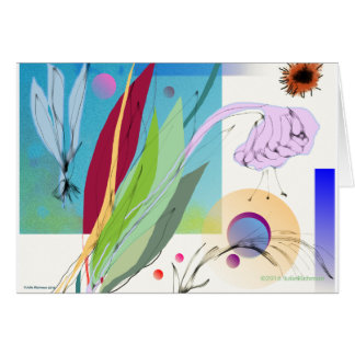 Abstract Floral Arrangement Card