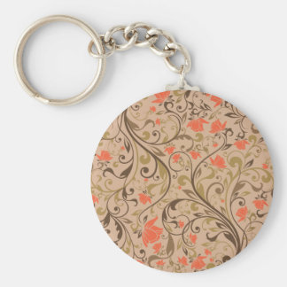 abstract floral art pattern  vo2 keychain