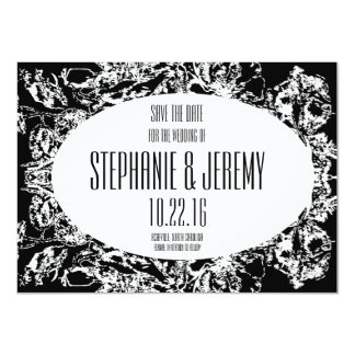 Abstract Floral Art Wedding Save the Date cards