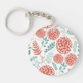 Abstract Floral Background Keychain