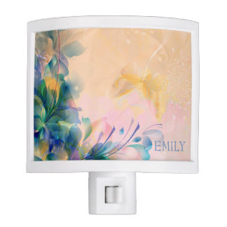 Abstract Floral Background Nite Light