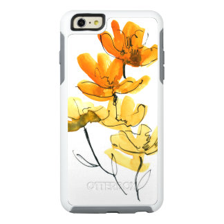 Abstract floral background OtterBox iPhone 6/6s plus case