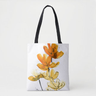 Abstract floral background tote bag