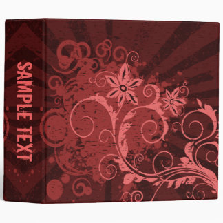 Abstract Floral Binder (Red)
