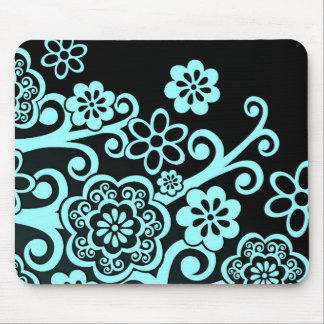 Abstract Floral Design Mouse Pad