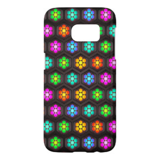 Abstract Floral Design Samsung Galaxy S7 Case