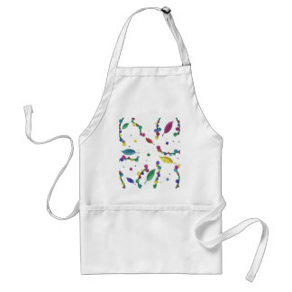 Abstract floral design standard apron