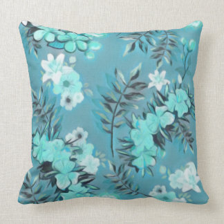 Abstract Floral Design Throw Pillow
