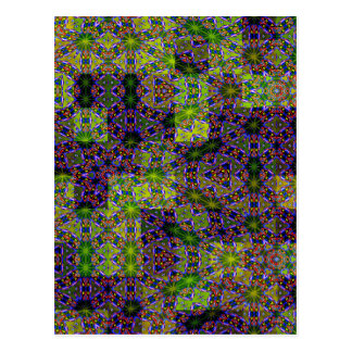 Abstract Floral Designs Postcard