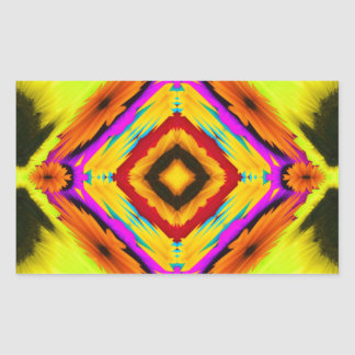 Abstract Floral Fractal Rectangular Stickers