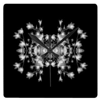 Abstract Floral Graphic Pattern Wallclocks