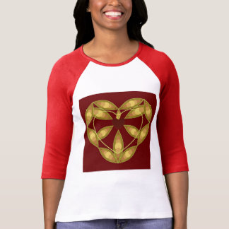 Abstract Floral Heart Shirt