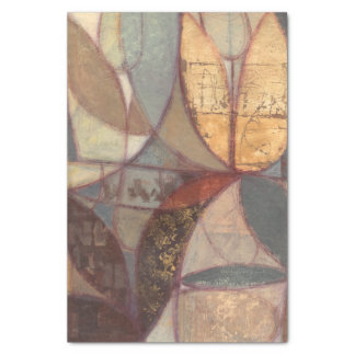 Abstract Floral Leaf Painting by Norman Wyatt Tissue Paper
