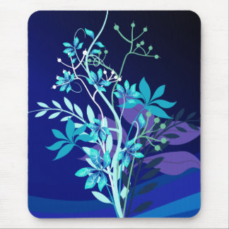 Abstract Floral Mouse Pads