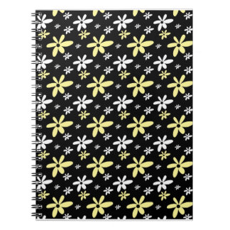 Abstract Floral Notebook Black
