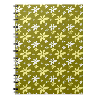 Abstract Floral Notebook Leaf Green