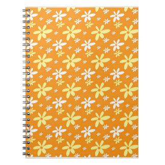Abstract Floral Notebook Orange