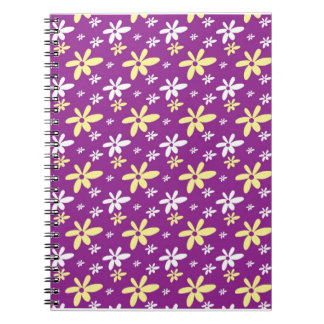 Abstract Floral Notebook Purple