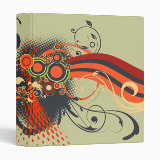 Abstract floral ornaments binders