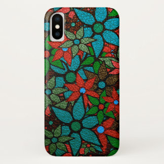 Abstract Floral Pattern #2 iPhone X Case
