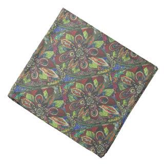 Abstract Floral Pattern Bandanna