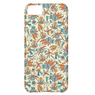 Abstract floral pattern design cover for iPhone 5C