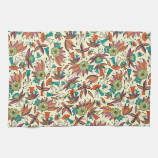abstract floral pattern design hand towel