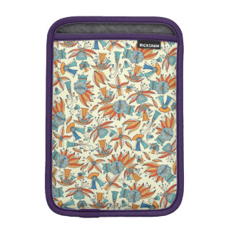 Abstract floral pattern design iPad mini sleeves